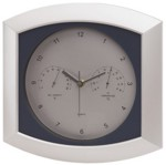 Reloj de pared weather station, color del producto plata